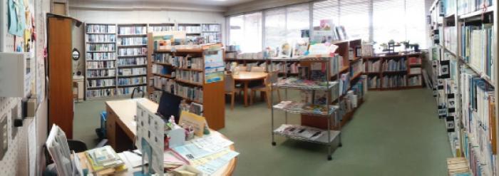 高向公民館図書室の様子